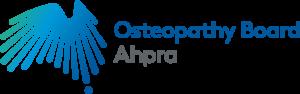 """""""alt=AHPRA osteopathy board logo"""""""